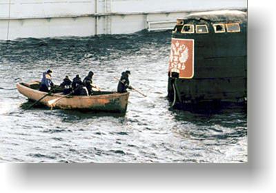 видео поднятие лодки курска